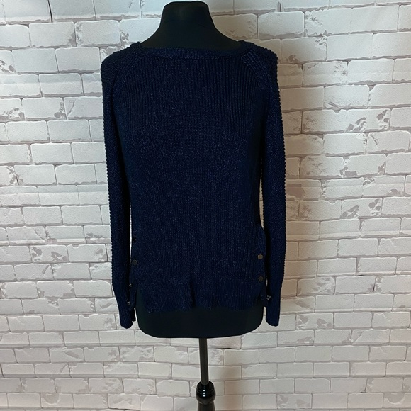 Calvin Klein sweater with side button detail